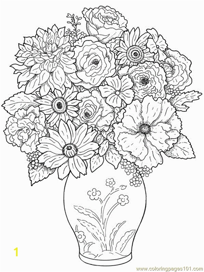 Flower Coloring Pages for Adults to Print Free Printable Coloring Image Flower Coloring Pages 24