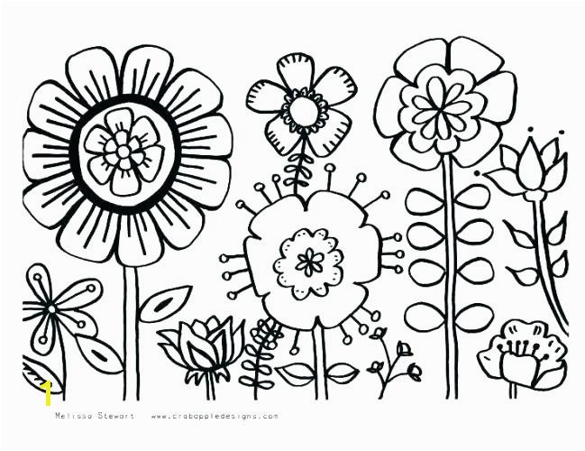 Flower Coloring Pages Free Printable Simple Flower Coloring Pages Simple Flowers G Pages Colouring