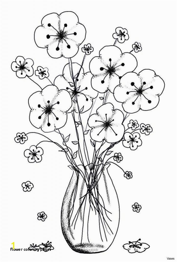 28 Flower Coloring Pages