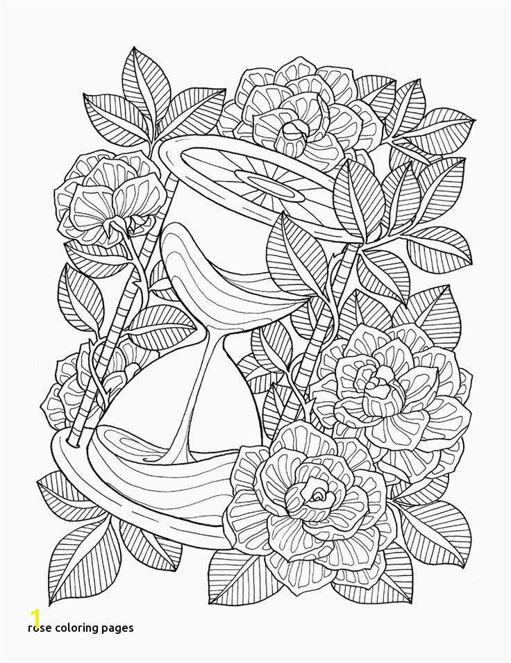 Stained Glass Flower Coloring Pages New Vases Flower Vase Coloring Page Pages Flowers In A top