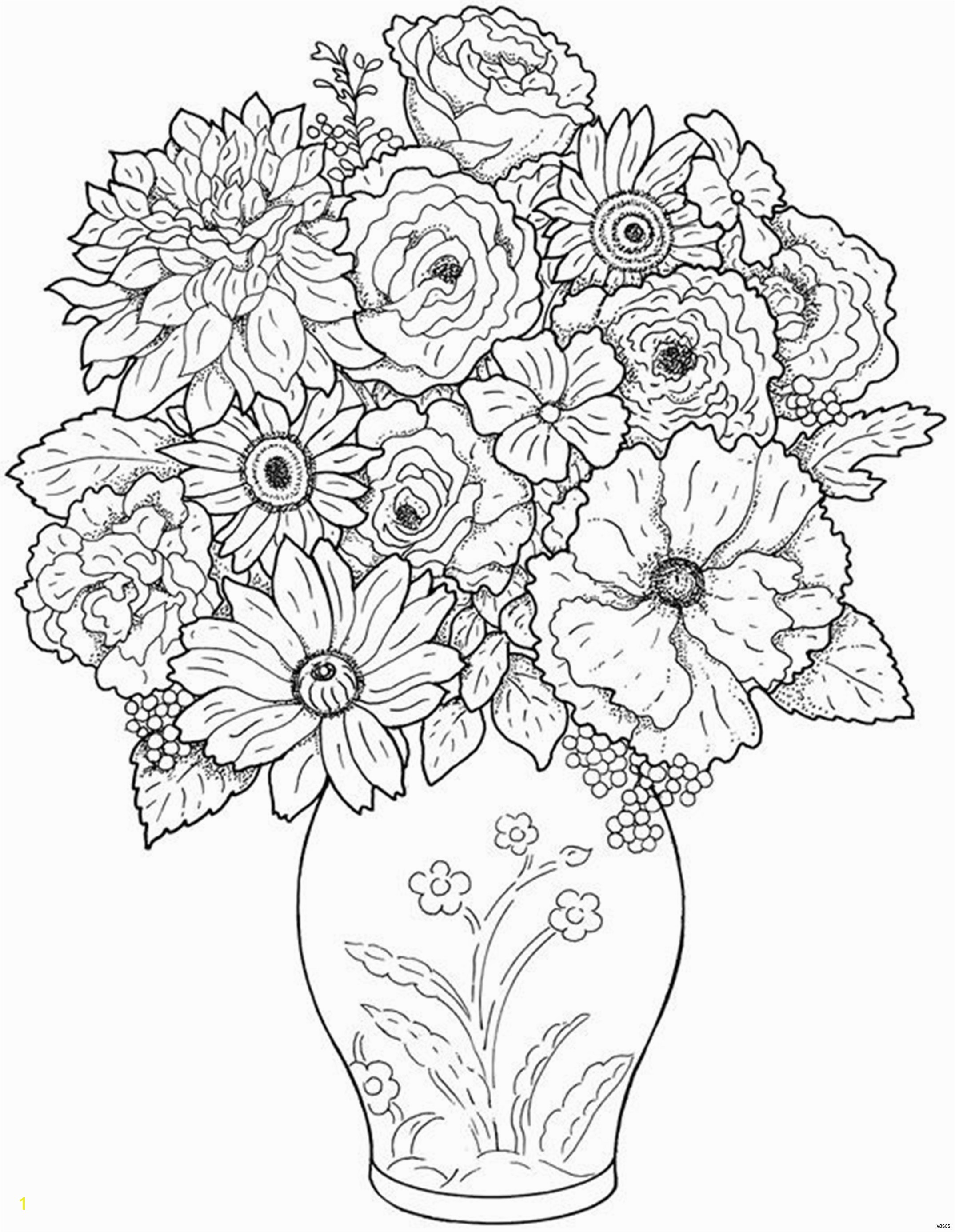 Colouring for Children Fresh Cool Vases Flower Vase Coloring Page Pages Flowers In A top