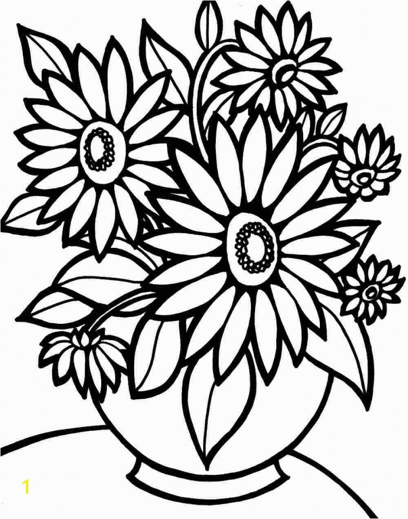 Colouring Pages Bouquet Flowers Printable Free For Kids Girls Regarding Flower Coloring Pages To Print