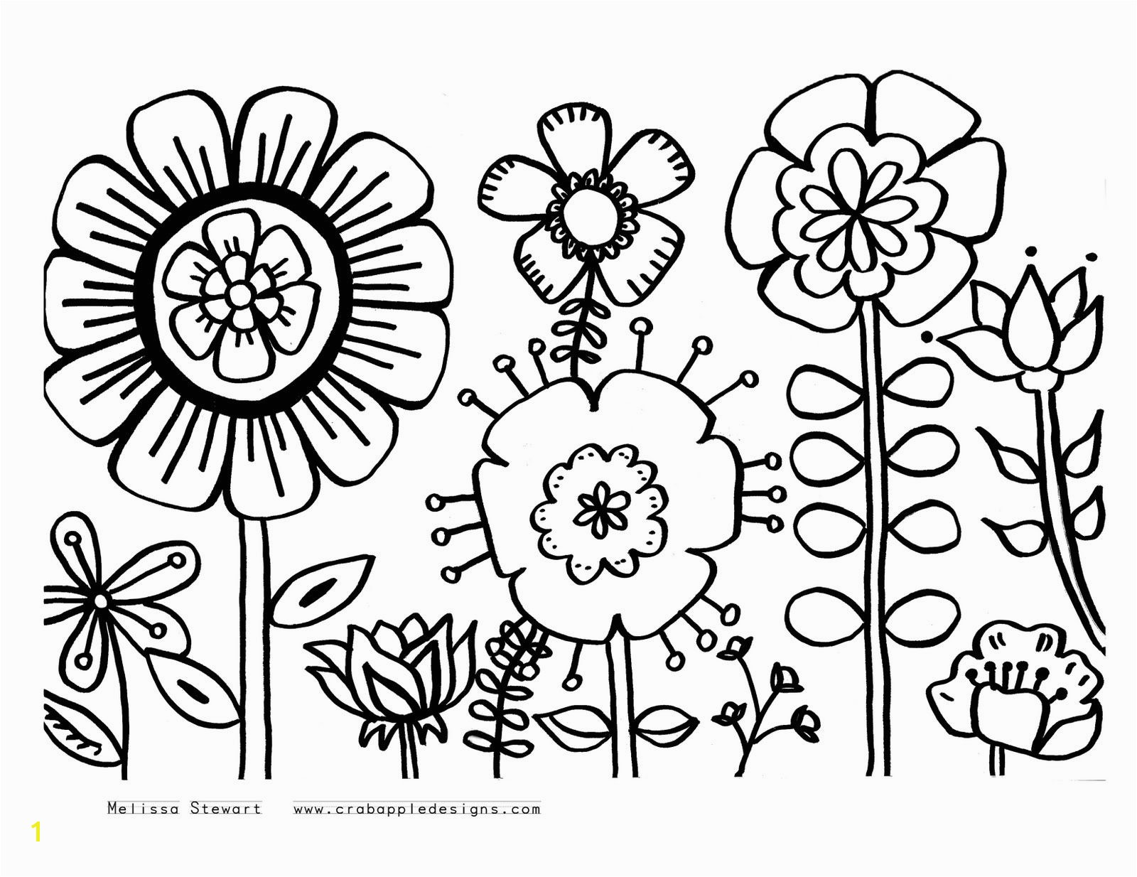 Flowers Coloring Pages Print Flower Coloring Pages Paint Sample butterflies