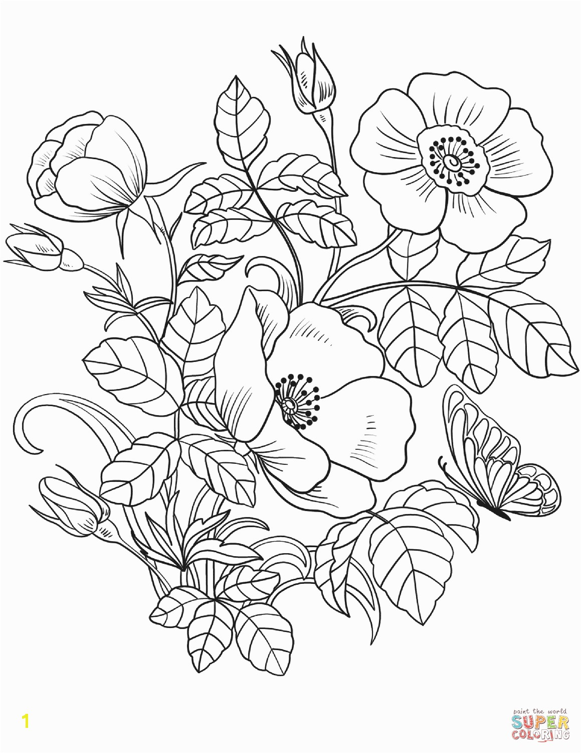 the Spring Flowers coloring pages to view printable version or color it online patible with iPad and Android tablets