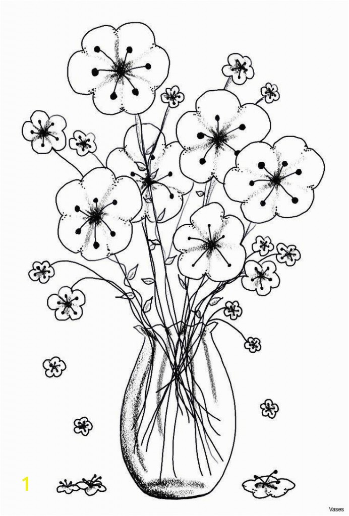 Flower Coloring Template Cool Vases Flower Vase Coloring Page Pages Flowers In A top I 0d