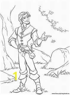 Coloring pages Tangled Disney Rapunzel Page 1 Printable Coloring Pages line