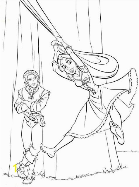 Flynn Rider and Rapunzel Coloring Pages Rapunzel & Flynn Rider Tangled Disney Coloring Pages