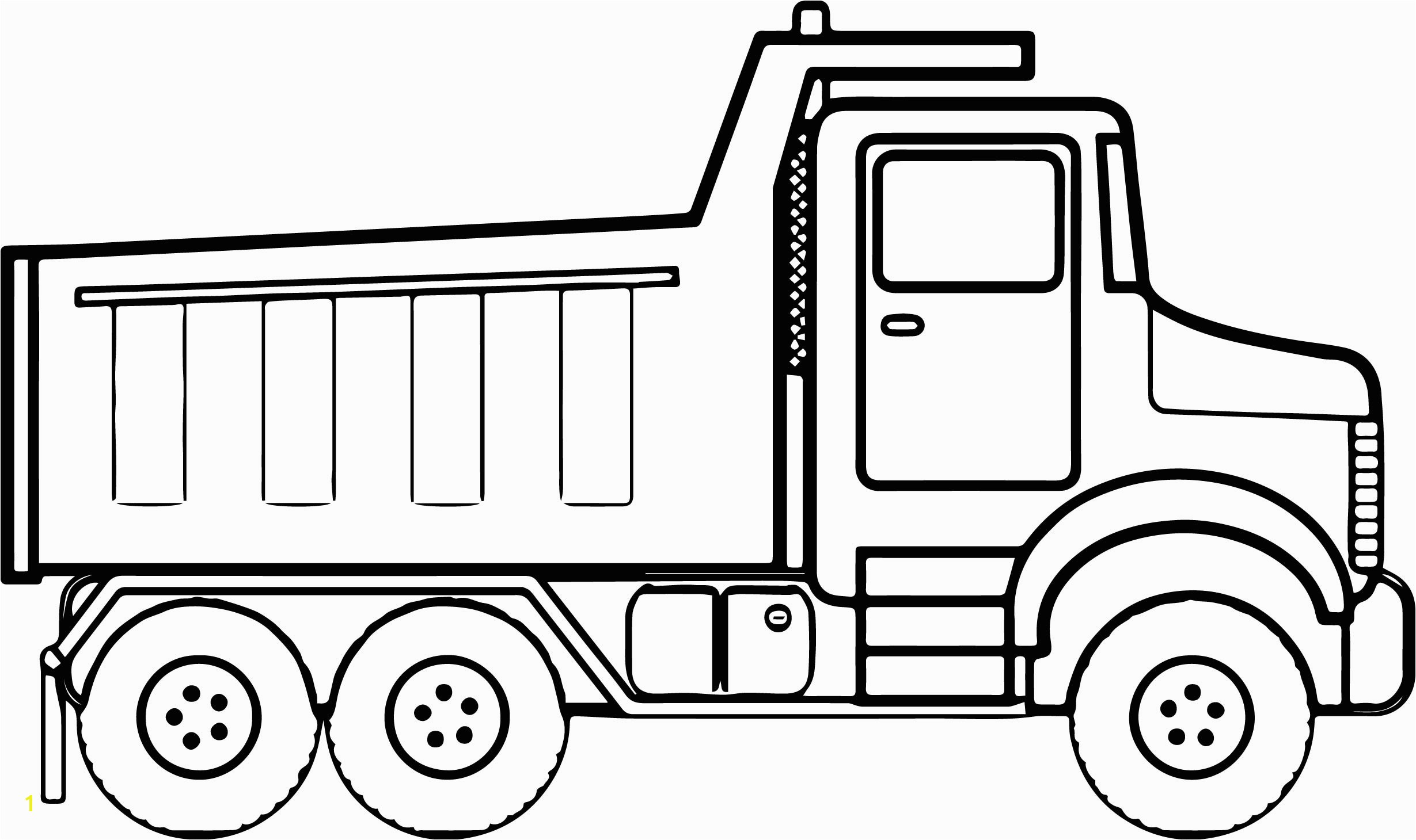 Construction Coloring Pages Tipper Truck Full Od Sand Coloring Page