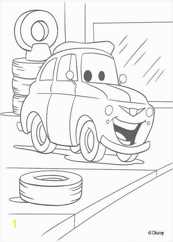 Cars car in the garage Coloring page DISNEY coloring pages Cars coloring