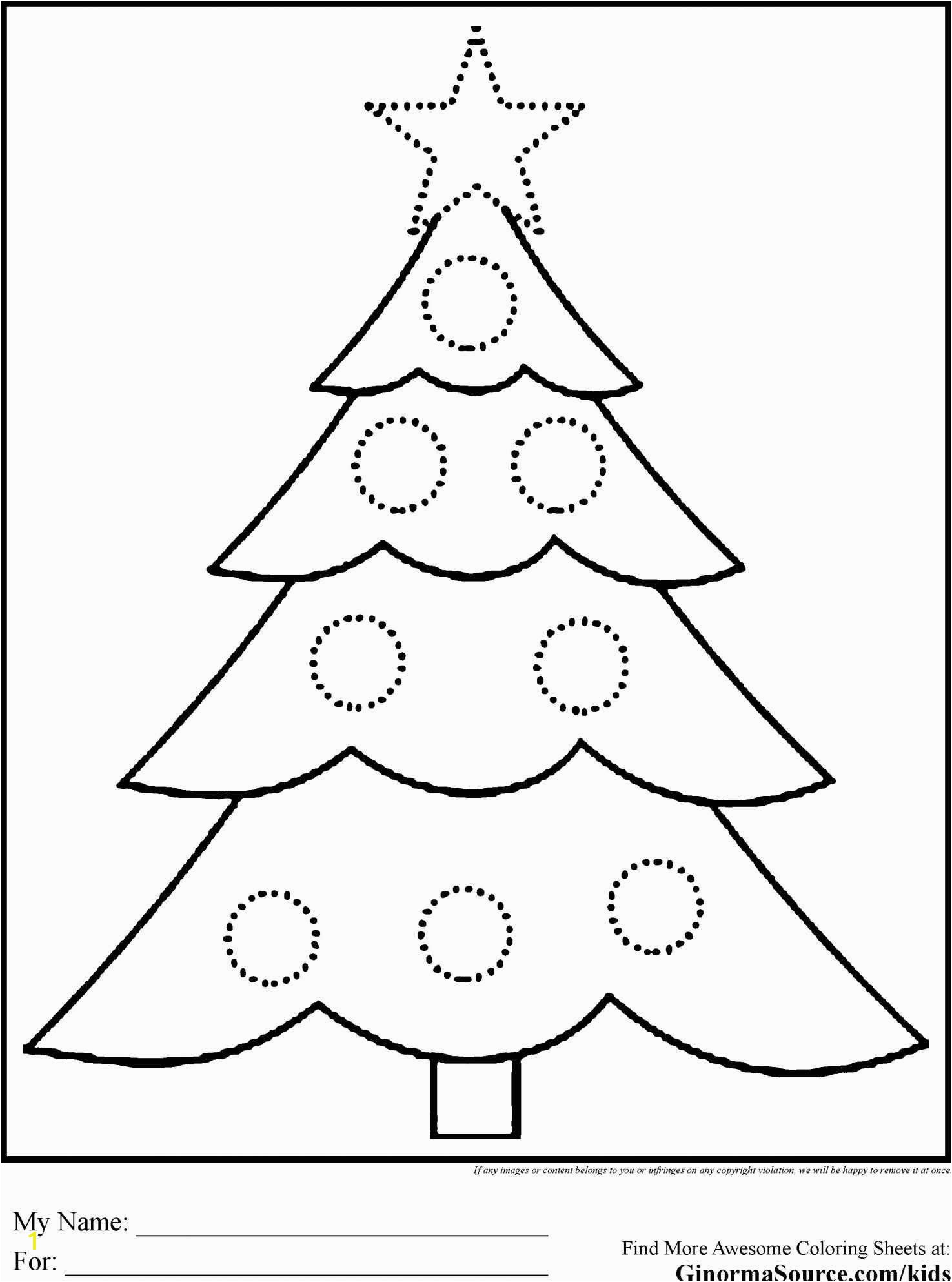 Christmas Tree Color Pages Tree Coloring Pages Free Christmas Tree