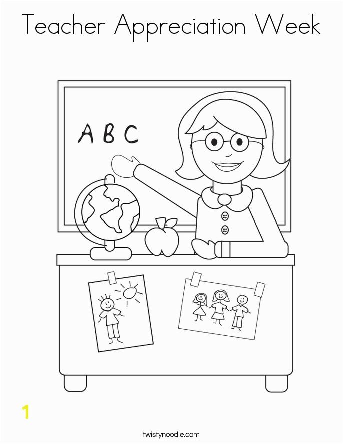 Teacher Appreciation Week Coloring Page Twisty Noodle SaveEnlarge · Free
