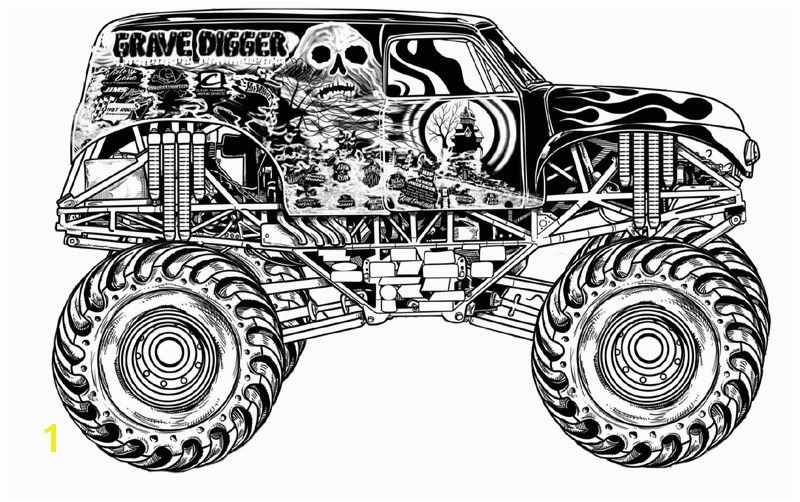 Free Coloring Pages Monster Jam Trucks Free Monster Truck Coloring Pages