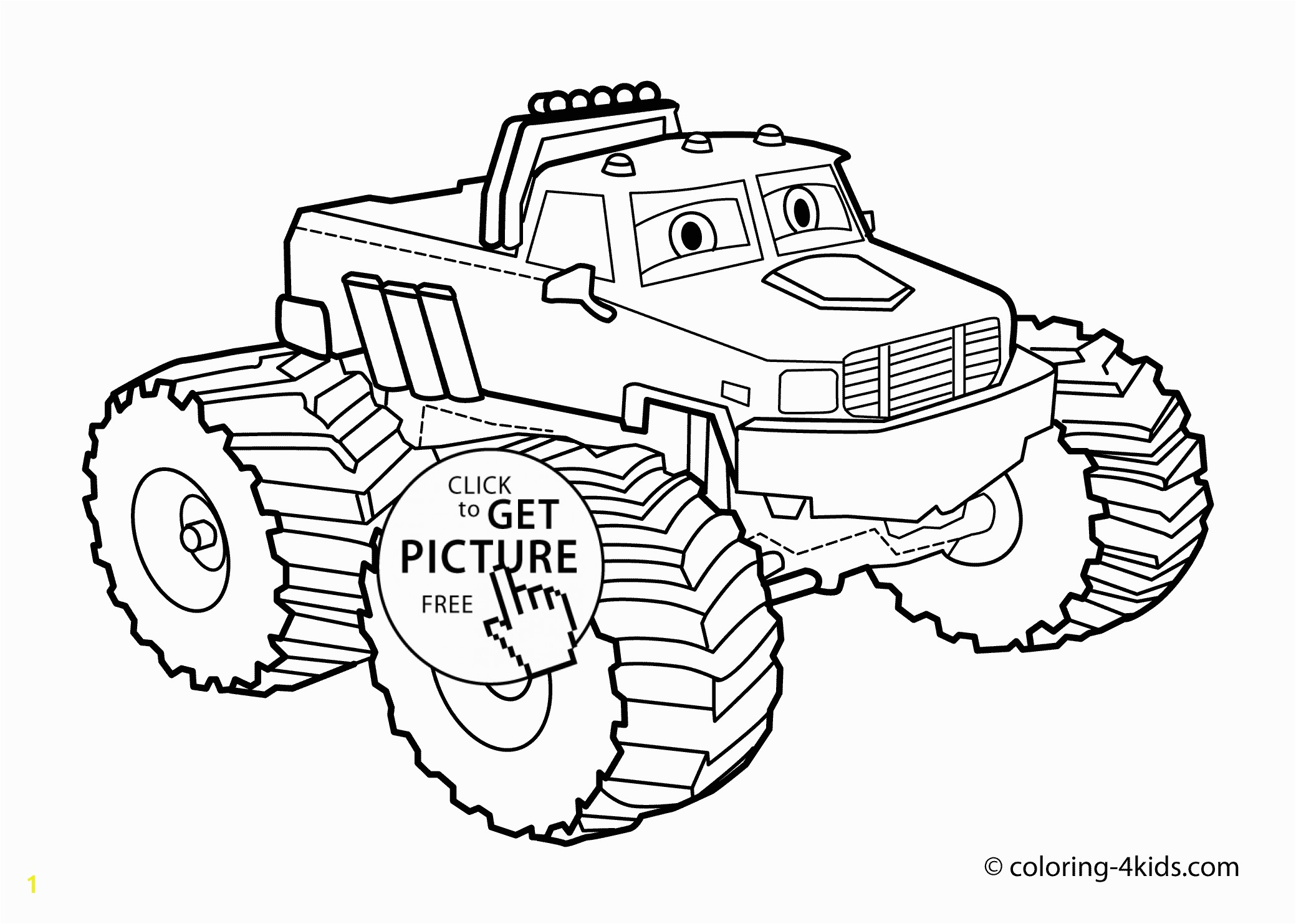 Monster truck Coloring page for kids monster truck coloring books printable free