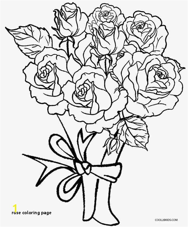 25 Rose Coloring Page