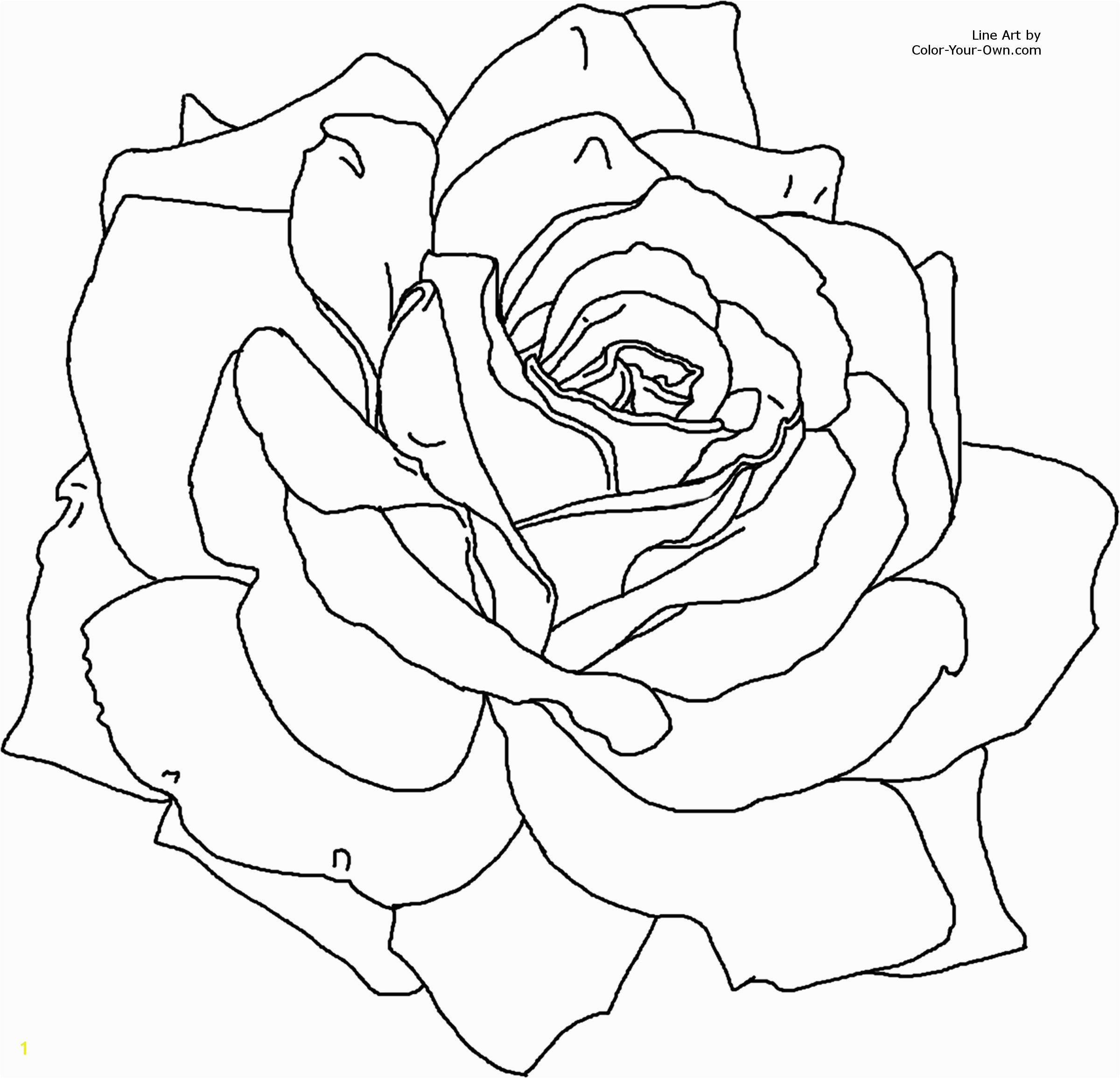 Free Coloring Pages Of Roses and Heart Flower Page Printable Coloring Sheets