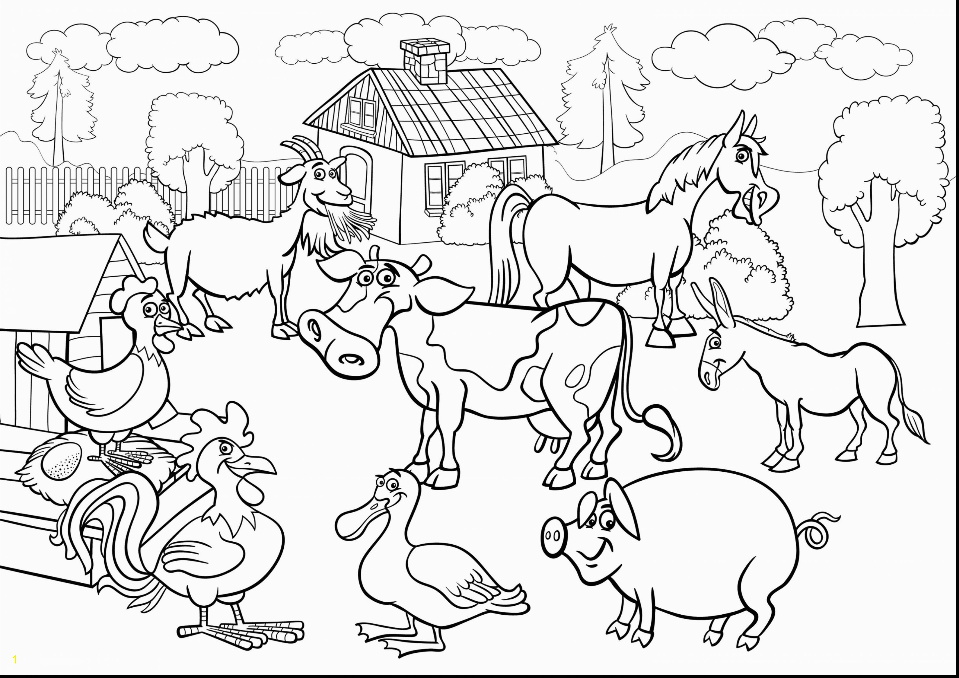 Approved Free Farm Scene Coloring Pages Astonishing Animal With Animals Ribsvigyapan With Coloring Pages Farm