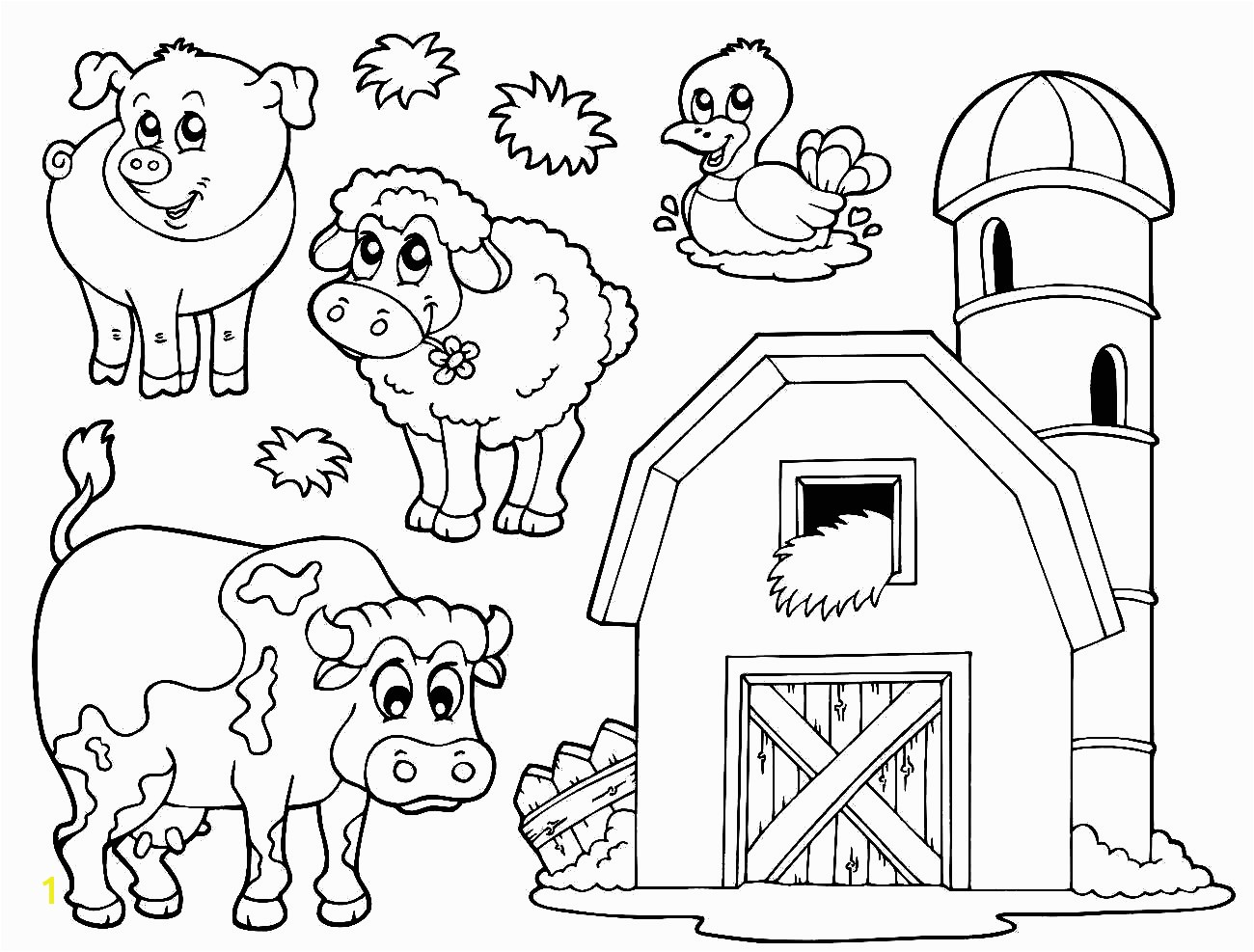 farm coloring sheet
