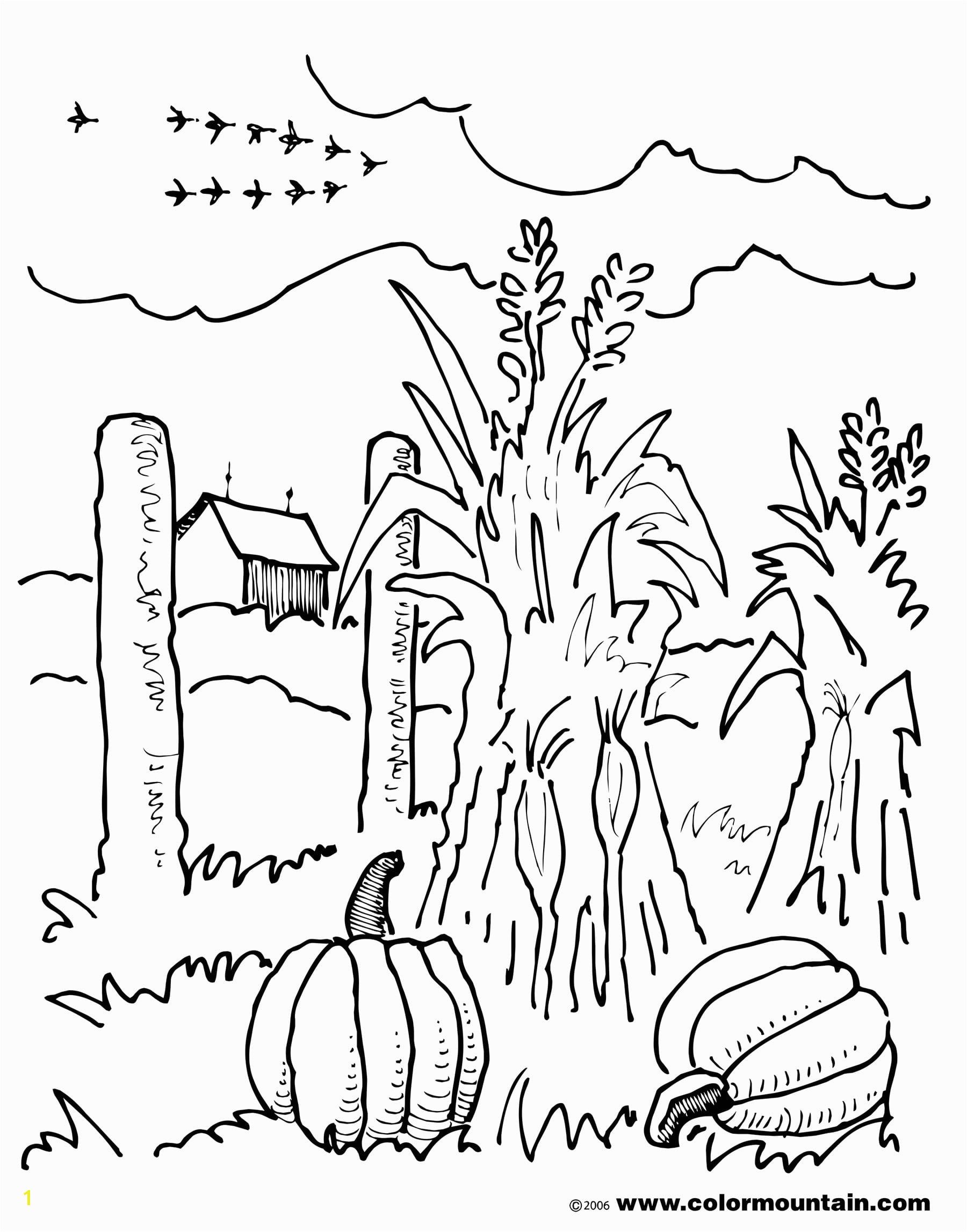 unique free farm scene coloring pages animals 9768 0