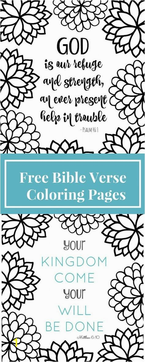 Free Printable Bible Verse Coloring Page