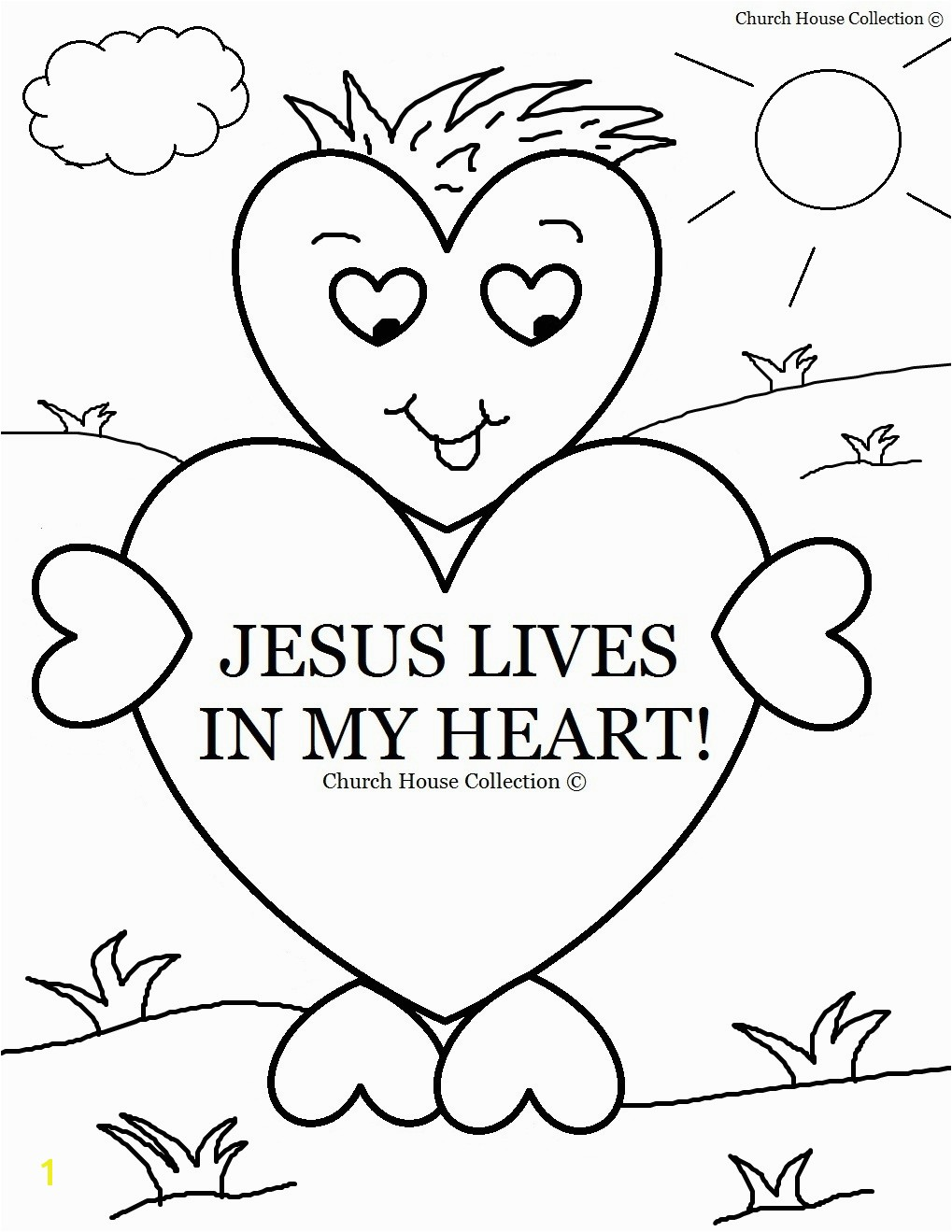 Christian Valentine Coloring Pages