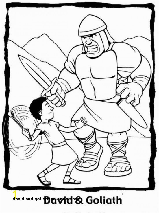 24 David and Goliath Coloring Pages