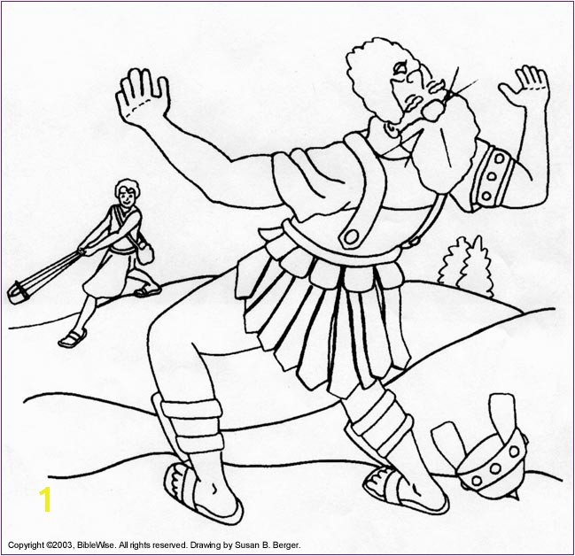 David And Goliath Coloring Pages Print Version David