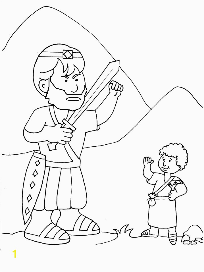 Free Printable Coloring Page Of David and Goliath David and Goliath Coloring Pages Goliath and David the Good Guy