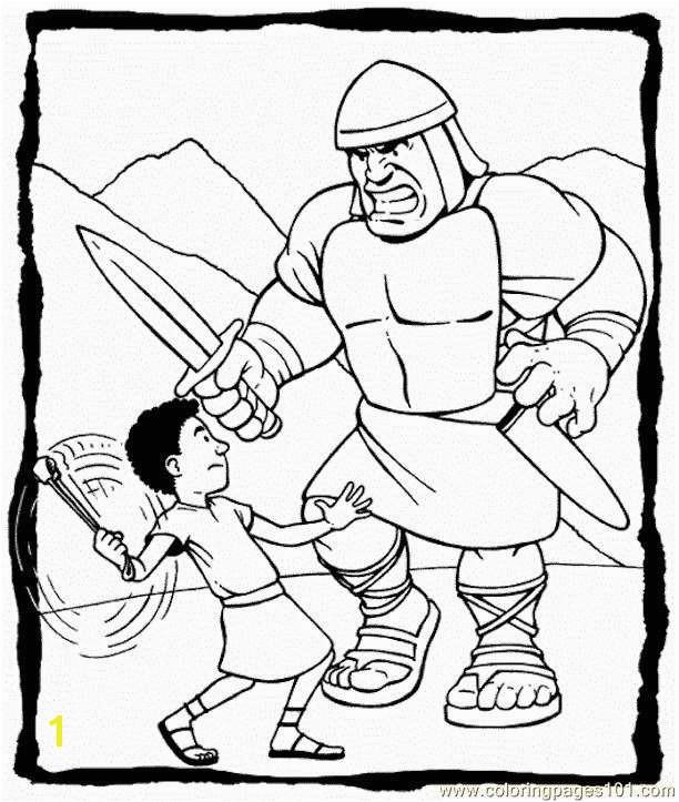 David and Goliath Coloring Pages Unique 7 Best Education Pinterest
