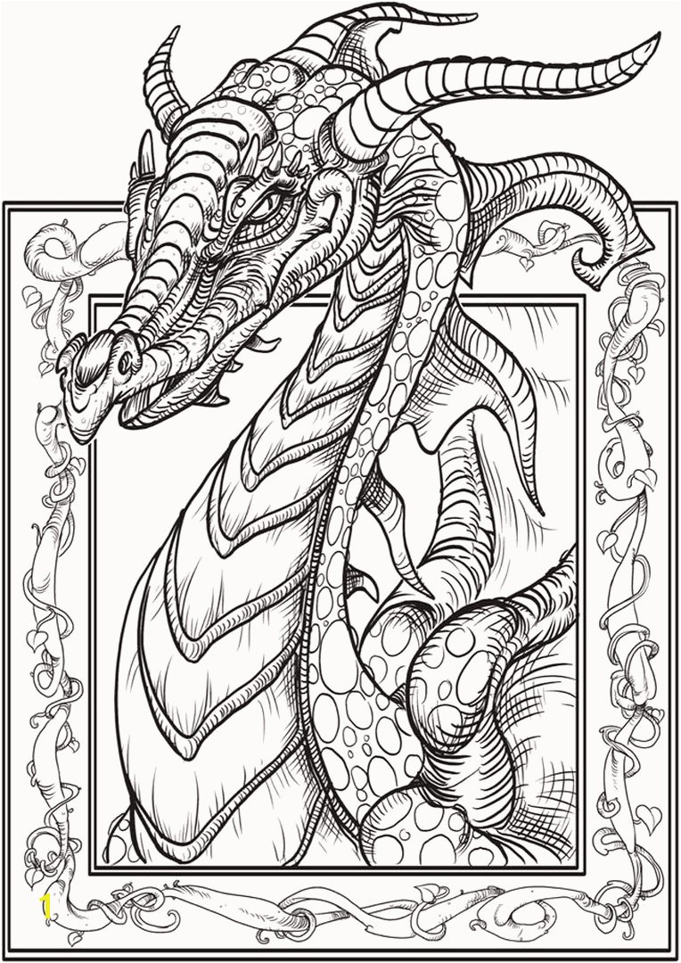 Dragon Coloring Pages For Adults Coloring Pages For Adults Difficult Animals Perfect New Od Dog