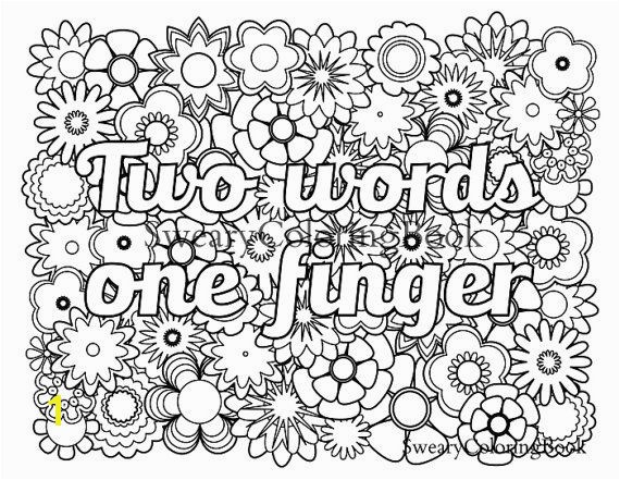 18awesome Free Printable Coloring Pages For Adults ly Swear Words More Image Ideas