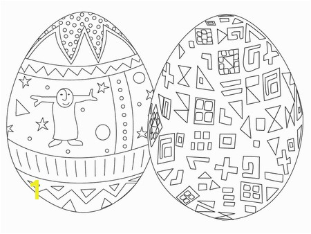 Best Coloring Pages Free Easter Egg Coloring Pages Two Easter eggs with designs