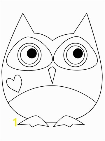 Valentine Day Owl coloring page