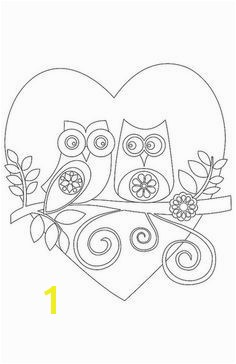 Valentine Owl Printable Coloring Pages