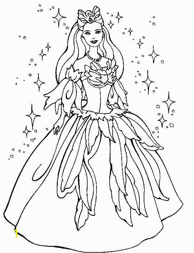 Free Printable Princess Coloring Pages Best Barbie Line Drawing