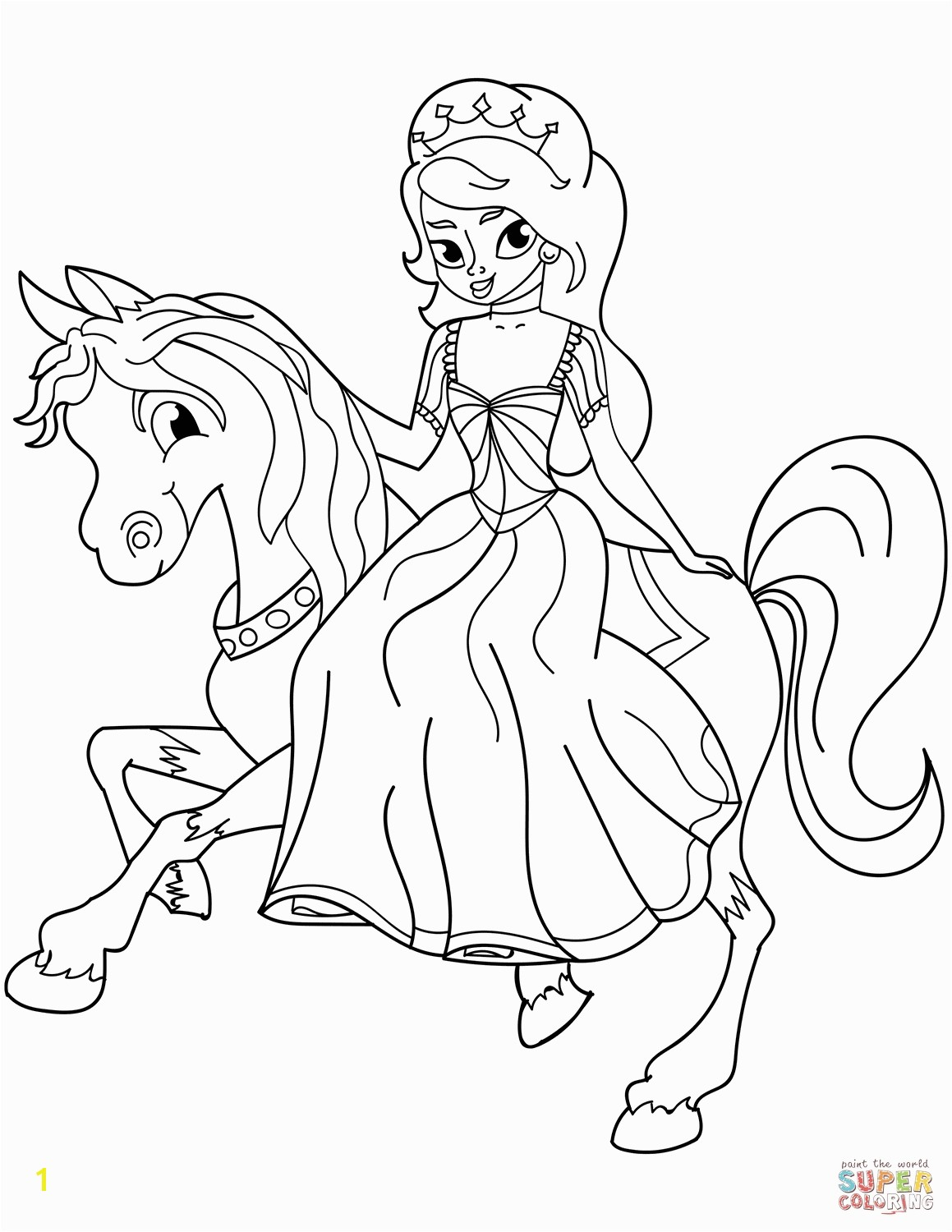 free printable princess coloring pages printable and online