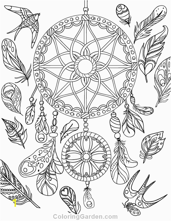 Free printable dreamcatcher adult coloring page Download it in PDF format at coloring page