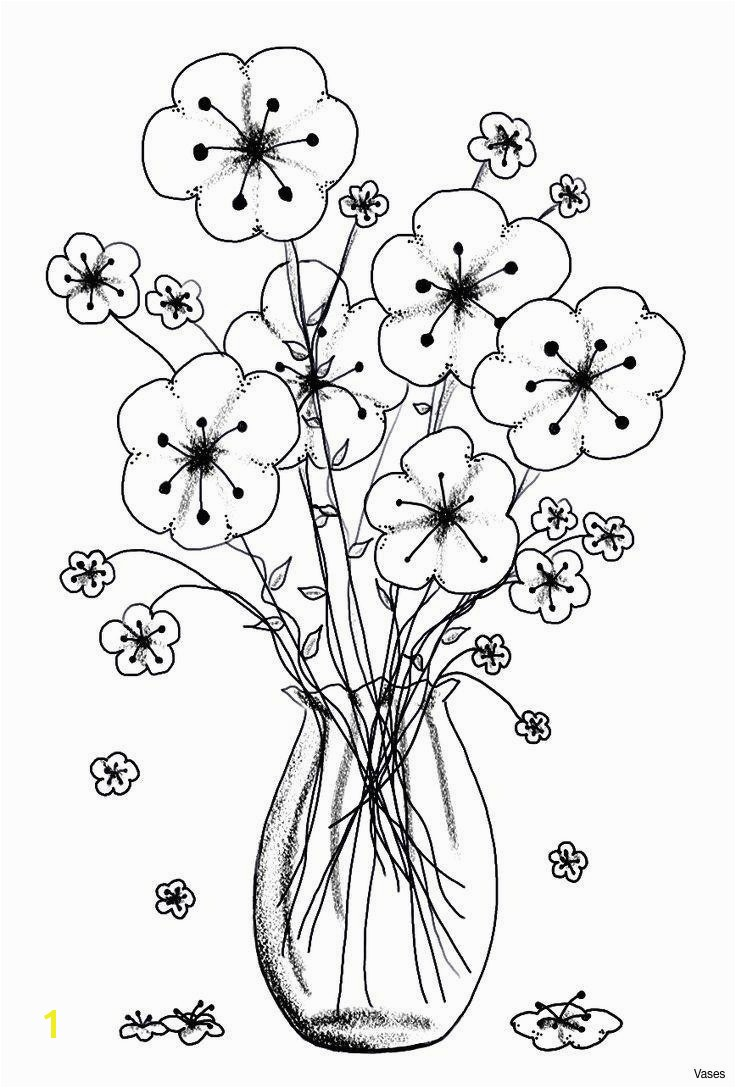 New Cool Vases Flower Vase Coloring Page Pages Flowers In A top I 0d Fresh Free Printable