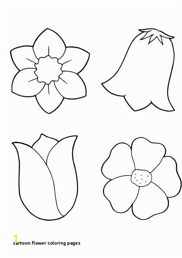 29 Cartoon Flower Coloring Pages