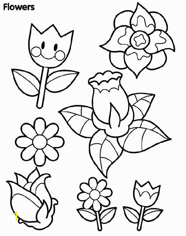 Printable Flower Coloring Pages Inspirational Spring Flowers Coloring Page