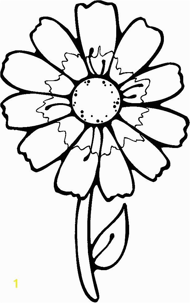 Printable Flowers To Color Flowers Coloring Pages