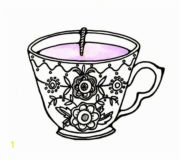 Tea Cup Coloring Page Beautiful Vintage Tea Cup Drawing at Getdrawings Tea Cup Coloring Page