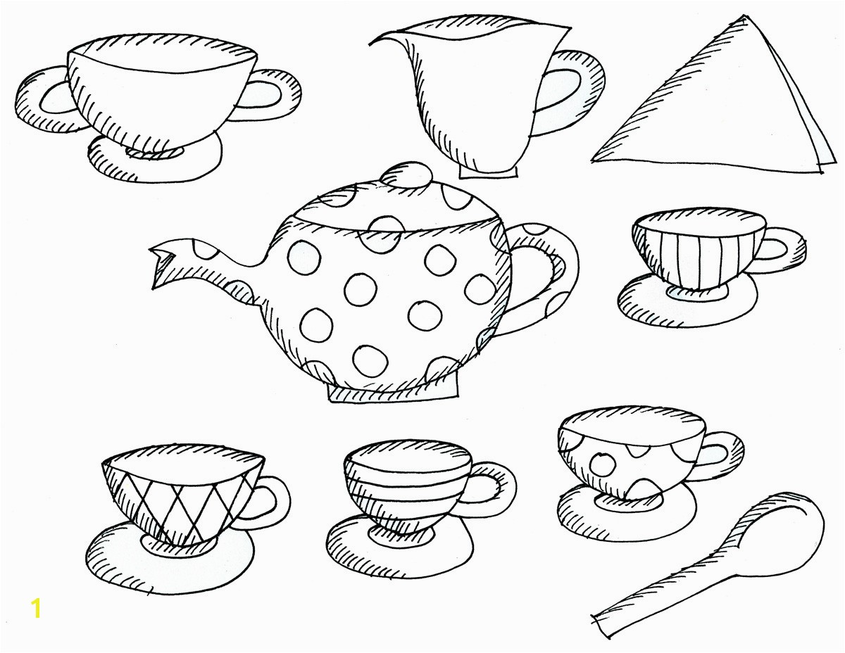 Free Printable Tea Cup Coloring Pages Tea Cup Coloring Page Inspirational Cups Drawing at Getdrawings