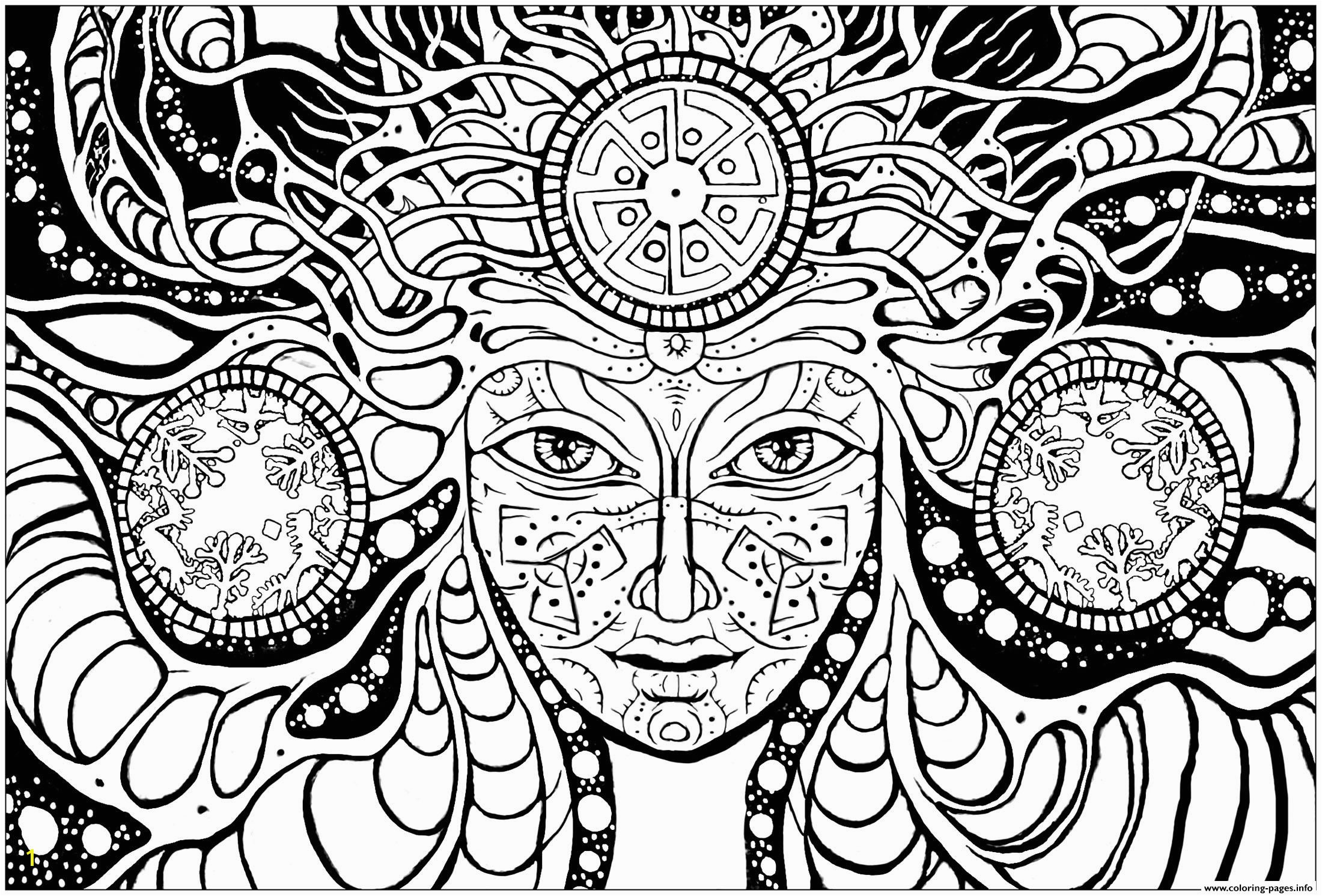 Free Printable Psychedelic Coloring Pages Printable Coloring Page