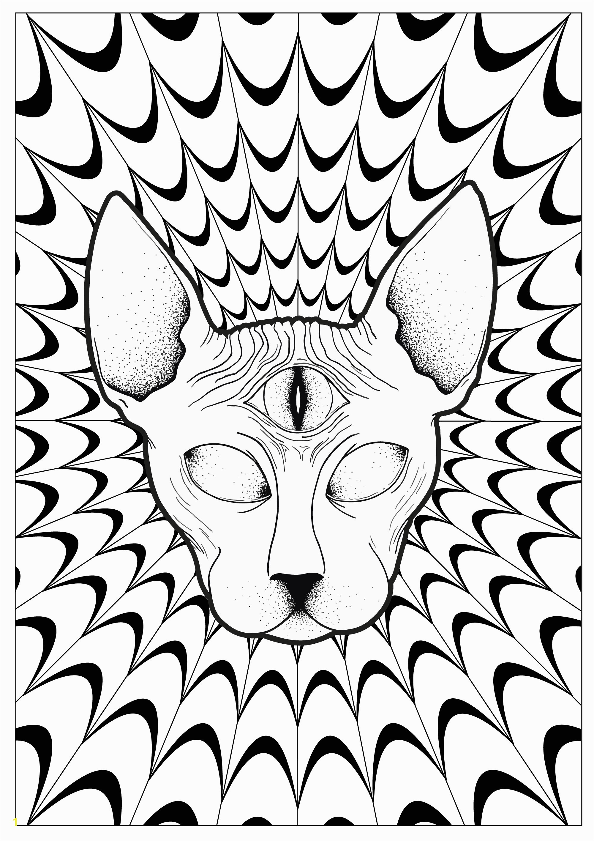 Psychedelic Coloring Pages For Adults Justcolor colors in