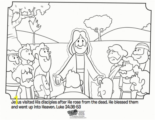 Jesus and His Disciples Free Easter Coloring Page Great coloring page for kids from the book of Luke