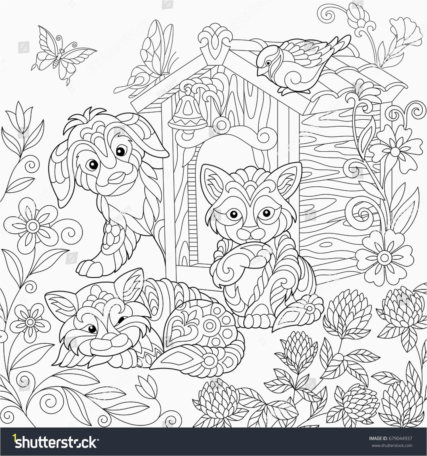 Full Page Printable Coloring Pages Elegant Best Od Dog Coloring