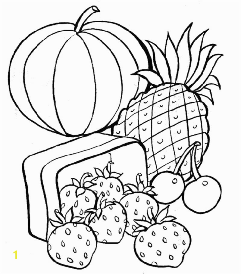 Free Printable Fruits and Ve ables Printable Healthy Food Coloring Pages Adult Coloring Books Pinterest