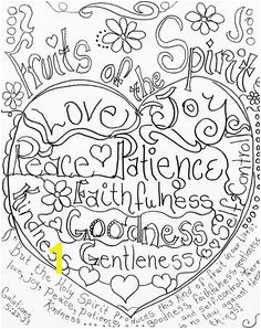 Fruits of the Spirit coloring page by Carolyn Altman Galatians 5 22 33