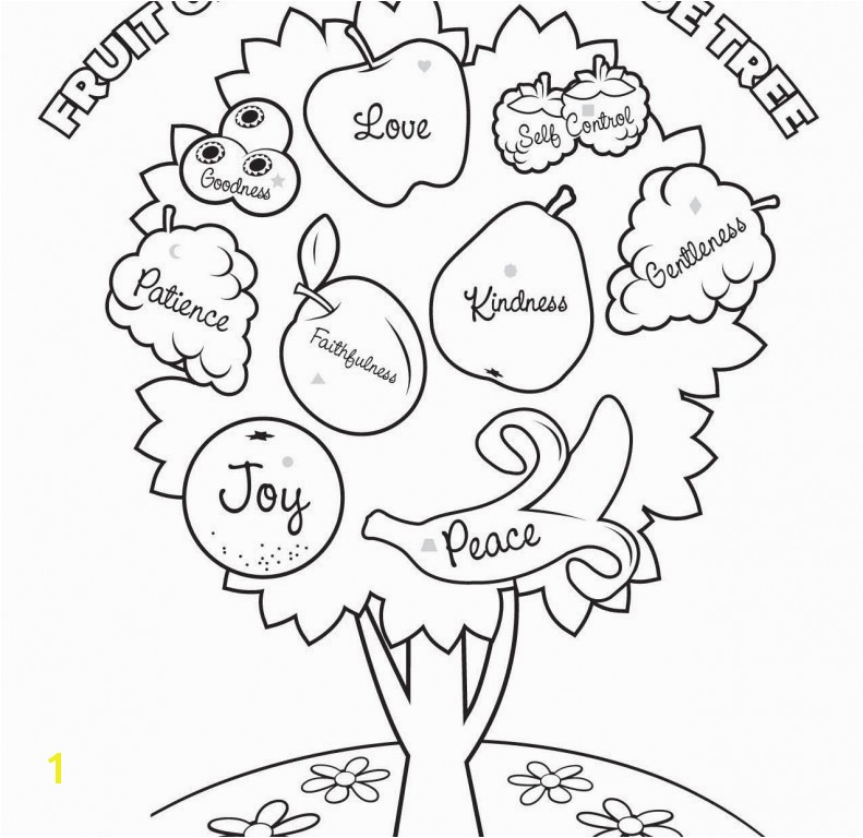 Fruit Of the Spirit Coloring Pages Fruit the Spirit Coloring Pages 20 Awesome Fruit the Spirit