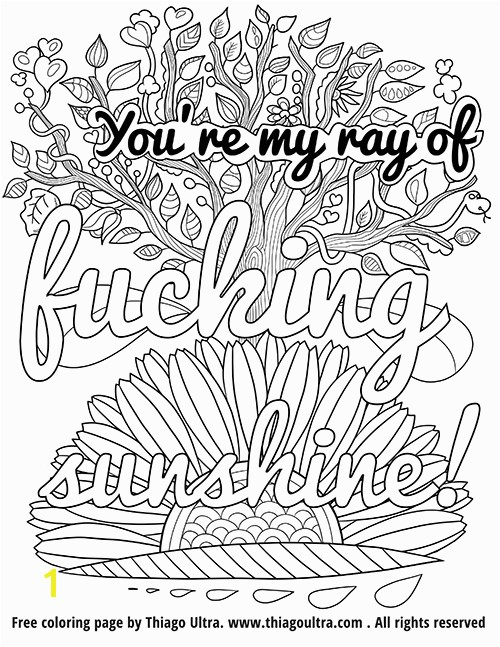 You re my ray of fucking sunshine Free Coloring Page Thiago Ultra